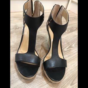 Michael Kors leather summer wedge sandals